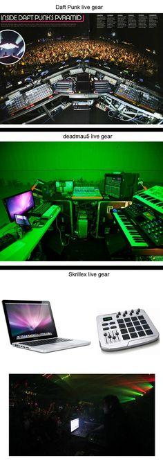 Live Setups: Daft Punk vs Deadmau5 vs Skrillex