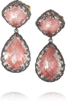 Jane oxidized sterling silver topaz earrings  by Larkspur & Hawk