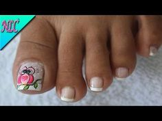 DECORACIÓN DE UÑAS PARA PIES BÚHO Y FRANCÉS♥ - OWL NAIL ART - FRENCH NAIL ART - NLC - YouTube