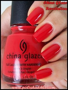 Paint The Town Red China Glaze This Length And Shape