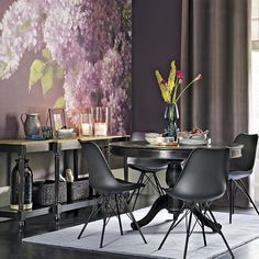 Romantic dining room with floral wall mural | Romantic rooms to inspire you | housetohome.co.uk