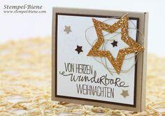 Weihnachtliche Merciverpackung, Anleitung Merciverpackung; Schokoladengeschenk basteln, Stampin Up Stern-Kollektion, Stampin Up Sammelbestellung, Stampin Up Recklinghausen