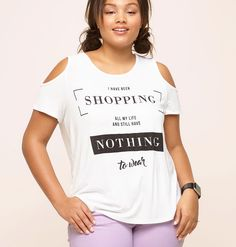 ffa1b33f0c7c0 Find more great plus size tops like the Shopping All My Life Cold Shoulder  Top available