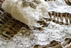 Soft white lace 1 yard by SixthCraft on Etsy