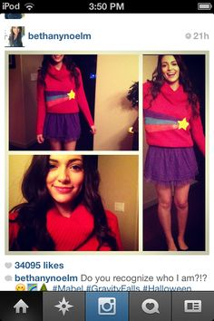 Mabel gravity falls Halloween coustume a ahh Bethany did this?!?!? She just became soooooo much more awesome!!!!