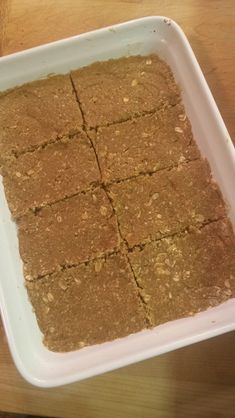 21 Day Fix Protein Bars---Peanut butter Oatmeal Bars---One serving container count: 1/2 red 1/2 yellow 1/2 blue
