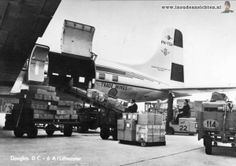 KLM Cargo history: KLM Royal Dutch Airlines, Douglas DC-6A Liftmaster - postcard