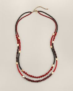 """Ermes multi-strand necklace, Chico's, 37-41"""" long"""
