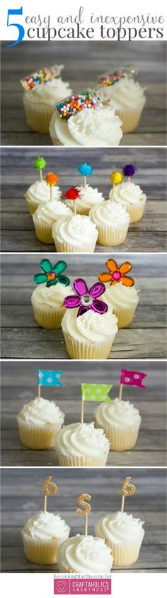5 party toppers, what a cute idea! Get inspired for a wedding or christmas party.