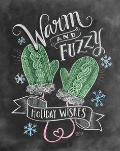 Warm & Fuzzy Holiday Wishes - Print