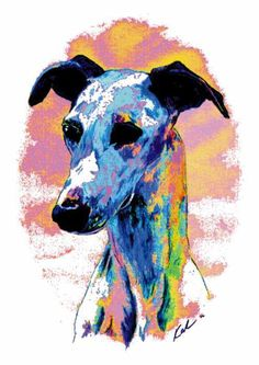 whippet poster by Kathleen Sepulveda.