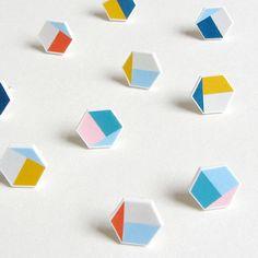 hexagon earrings Lovely Pigeon Pulse