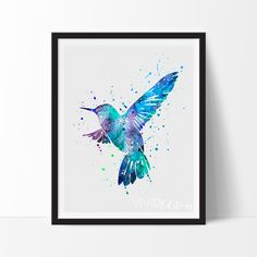Bird 3 Watercolor Art Print
