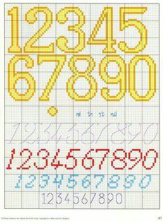 241 Fantastiche Immagini Su Punto Croce Alfabeti Numeri Cross