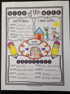 Star of the Week Poster FREEBIE!
