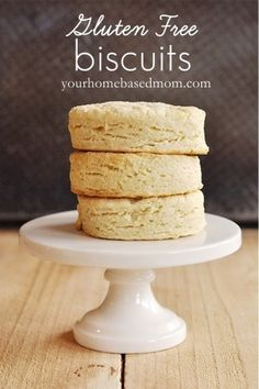 Gluten Free Biscuits @Misty Schroeder Schroeder Schroeder Schroeder Carver She also mentions using almond milk instead of regular milk