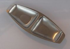 Vintage Alfra Alessi Stainless Steel Mid-Century Modern Divided Tray