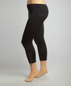 Look at this #zulilyfind! Black Zipper Classic Cropped Leggings - Plus by Poplooks #zulilyfinds