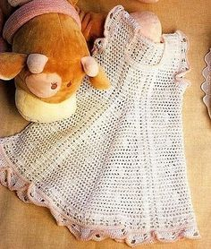 Robes - Modèles pour Bébé au Crochet. Love this one too. Very cool charted patterns on this site.
