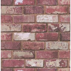 Graham & Brown Red brick hemingway wallpaper ($34) ❤ liked on Polyvore featuring home, home decor, wallpaper, diy & home decorating, pattern wallpaper, paper wallpaper, graham & brown, graham brown wallpaper and red brick wallpaper