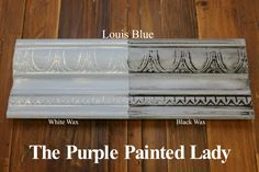 actual samples of every annie sloan chalk paint color with different dilutions and waxes. --The Purple Painted Lady Duck Egg Chalk Paint Annie Sloan Black White Wax Cnc Furniture, Black And White Furniture, Annie Sloan Painted Furniture, Bedroom Furniture Makeover, Chalk Paint Furniture, Grey Furniture, Furniture Design, Furniture Ideas, Smart Furniture