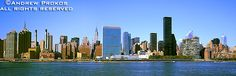 Photos of the United Nations - Fine Art Prints, High-Res Stock Images - Panoramic Skyline of East Midtown Manhattan and the United Nations II