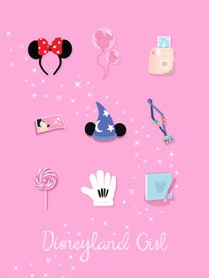 """Disney Girl"" : Disneyland Smartphone - iPad Wallpaper."