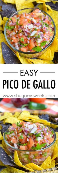 Get out the sombreros and margaritas: this Easy Pico de Gallo recipe is perfect for taco night and any summer get-together! Don't forget to serve this dip with Town House Sea Salt Pita Crackers for one amazing bite. Mexican Dishes, Mexican Food Recipes, Vegan Recipes, Cooking Recipes, Crockpot Recipes, Chicken Recipes, Fingers Food, Salsa Recipe, Appetizer Recipes