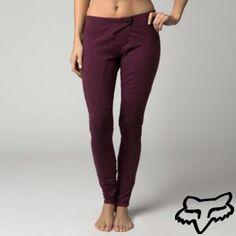 Fox Racing Competition Moto Womens Legging Pants Bordeaux/Purple LG