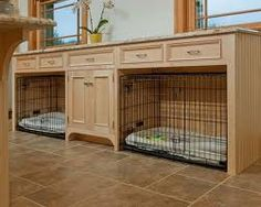 built in dog crate - Google Search