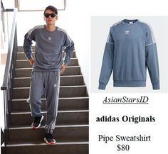 IG - Mario Maurer: adidas Originals Pipe Sweatshirt $80 Photo: @mario_mm38, @adidas  For more and/or where to buy this item, visit asianstarsid.com  #mario_mm38 #adidas #adidasoriginals #mariomaurer #fashion #thailand #th #actor #channel3 #asianstarsid #sweatshirt #top