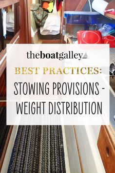 Figuring out where to stow provisions on a boat is tough, but some things become clear when you start thinking about the weight distribution too.
