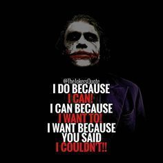 "1,061 Likes, 2 Comments - Joker Quotes (@thejokersquote) on Instagram: "" Must Follow @TheJokersQuote @TheJokerSayings For Daily Motivation And Inspirational Quotes…"""