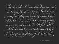 Lettering Time: John Stevens