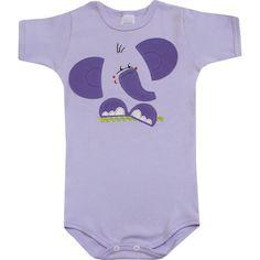 Body de Bebê Menina Elefantinha Lilás - Patimini :: 764 Kids | Roupa bebê e infantil