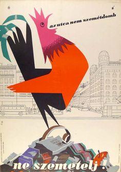 Sz. Gy. Az utca nem szemétdomb – Ne szemetelj! 1960 | Plakát galéria