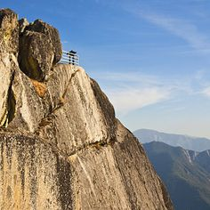 Moro Rock About 400 granite steps ascend 6,725-foot Moro Rock—like Half Dome without the cables and the long hike.