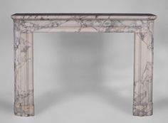 Antique Art Deco fireplace in Arabescato marble - Marble Ornamentation In Architecture, Art Deco Fireplace, Arabescato Marble, Fireplace Inserts, Marble Floor, Decoration Design, Art Deco Fashion, Oversized Mirror, Entryway Tables