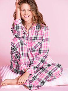 【2013年11月新作】ドリーマーフランネル パジャマ【GO6-Bright Pink Metallic Plaid】The Dreamer Flannel PajamaVictoria's Secretヴィクトリアシークレット【PJ-1108】【楽天市場】
