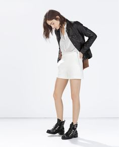 Image 1 of HIGH WAIST SHORTS from Zara
