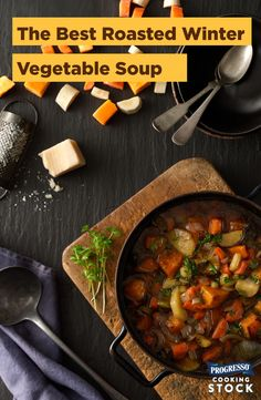 To make this winter vegetable medley is to know a good soup. The light flavors are bright and so present, yet somehow this soup finds a way to be hearty and filling. It's the perfect vegetarian soup for a cold winter night. Oh, and be sure to make enough for leftovers; it only gets better. #slowcooker