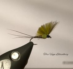 CDC no hackle mayfly on grip hook # 16