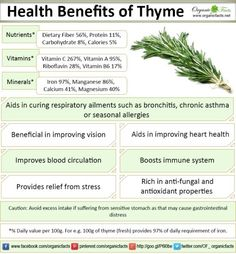 health benefits of thyme Nutrition Tips, Health And Nutrition, Health And Wellness, Health Care, Holistic Nutrition, Herbal Remedies, Health Remedies, Natural Remedies, Healing Herbs
