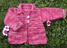 Free Knitting Pattern - Toddler & Children's Clothes: Tigger Cardigan, Knittydotcom pattern
