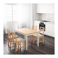 LERHAMN Table, light antique stain, white stain - IKEA