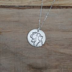 Labrador - Dog fine silver charm by ALMrozarka on Etsy