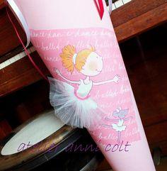 Schultüten - Schultüte Ballerina 85cm - ein Designerstück von annicolt bei DaWanda