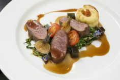 #YorkshireLife Luncheon - Raithwaite Hall, #Whitby. Sous vide fillet of #lamb.