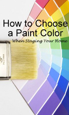 How to choose a paint color the easy way by DIY Home Staging Tips