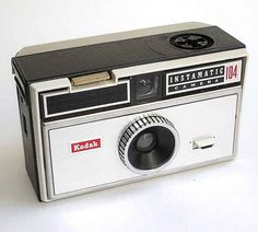 Kodak Instamatic 100 - Manufactured 1965-68. Uses flashcubes - fixed focus. Mine was green. This was my first real camera.